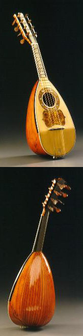 Neapolitan mandolin - Front and Back