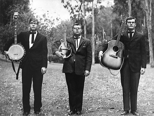 Original Ridgerunners, ca. 1962; Scott Hambly, mandolin, Greg Lasser, banjo, Country Al Ross, guitar.